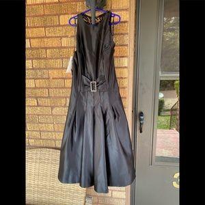 Scott McClintock Satin Style Dress with Back Lace.
